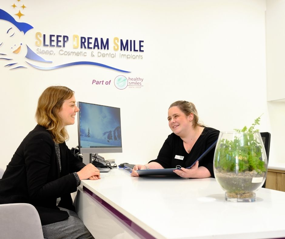 patient discussing sleep dentistry cost at healthy smiles Melbourne sleep dentistry experts
